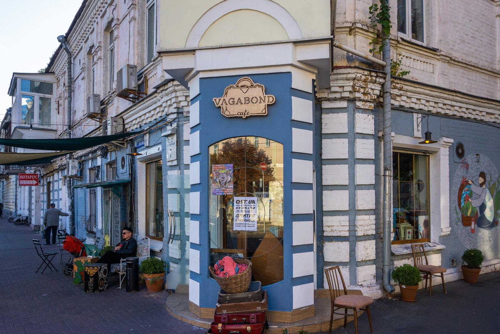 Vagabond Cafe exterior en Kiev, Ucrania