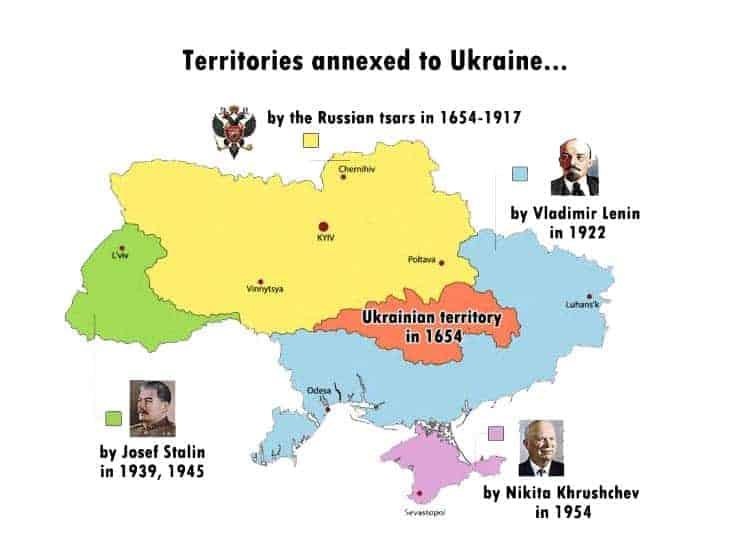 Territorios anexados a Ucrania